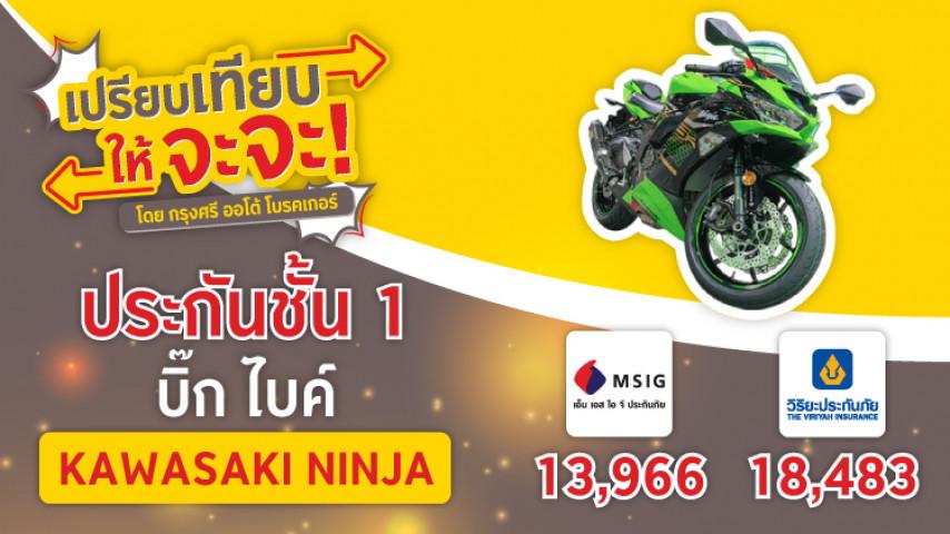 ประกันบิ๊ก ไบค์ ชั้น 1 ซ่อมห้าง Kawasaki Ninja เลือกเลย
