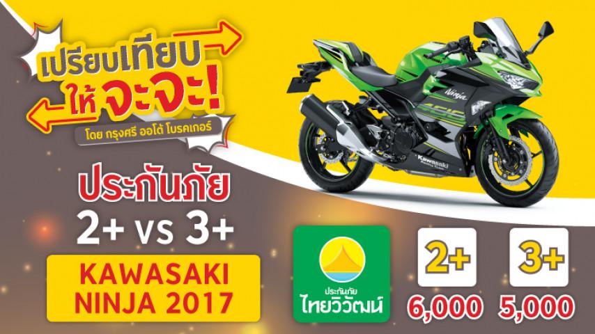 ประกันบิ๊กไบค์ ราคาประหยัด ชั้น 2+ หรือ 3+  Kawasaki Ninja เลือกเลย